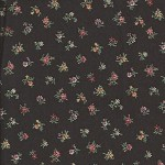 Patchwork - Quilting Fabric - Fat 1/4 - Floral with Black Background