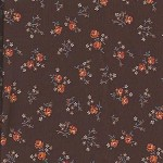 Patchwork - Quilting Fabric - Fat 1/4 - Floral with Brown Background