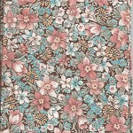 Patchwork - Quilting Fabric - Peach and Aqua Floral