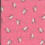 Patchwork - Quilting Fabric - Fat 1/4 - Sheep on Pink Background