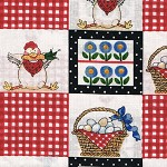 Patchwork - Quilting Fabric - Hen and Eggs