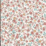 Patchwork - Quilting Fabric - Fat 1/4 - Floral with Cream Background