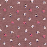 Patchwork - Quilting Fabric - Diamonds on Dusty Pink Background