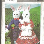 Pattern - Style 2421 - Mr. & Mrs. Rabbit and their Twins