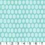 1.4mtrs - Sweet Spots in Aqua from Bella Butterfly by Michael Miller