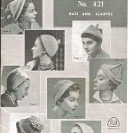 Knitting Book - Patons Hats and Scarves - Vintage in Excellent Condition