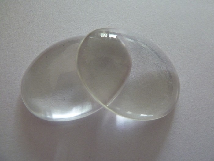 10 x Oval glass dome cabochons