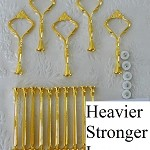 Cake Stand Handle / Fitting 3 Tier Gold HEAVY Crown Centre Hardware Kit x 5