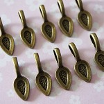 20  Antique Bronze Glue On Bails