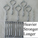 Cake Stand Handle / Fitting 3 Tier Silver HEAVY Crown Centre Hardware Kit x 5