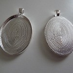 10 x Oval silver plated pendant trays