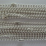 Longer length 10 x Stirling silver plated ball chains