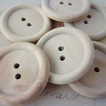 Wooden Buttons, Extra LARGE Round Wood Buttons, PACK OF 20