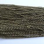 Longer length 10 x Antique bronze ball chains
