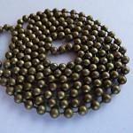 10 x Antique bronze ball chains