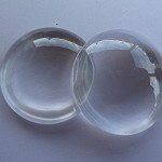 10 x Round 30mm glass dome cabochons