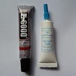 E6000 and Crystal lacquer mini tube set