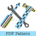 Tools Applique Template, Hammer Screwdriver Wrench Spanner, DIY, PDF Pattern