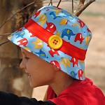 Hat Pattern PDF Sewing Pattern Bucket Hat for Boy or Girl Button Embellishment