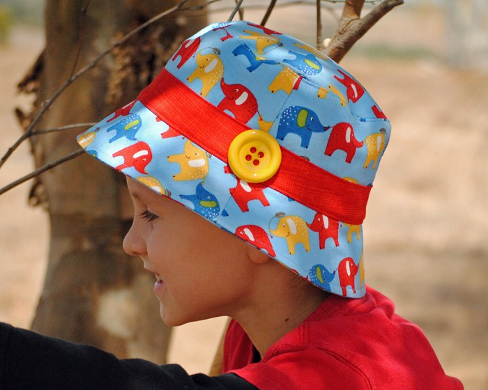 Hat Pattern Pdf Sewing Pattern Bucket Hat For Boy Or Girl Button