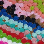 50 Flower Cabochon - Mixed Colour - Resin