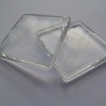 10 x Square 1 inch glass tiles