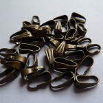 10 x Antique bronze Snap bails