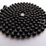 10 x Long length Black ball chains