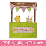 Lemonade Stand Applique Pattern PDF Template Applique Design Summer