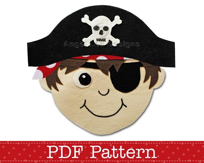 Pirate Applique Pattern PDF Template Pirate Boy Applique ...