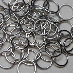 300 unsoldered iron jump rings, nickle free