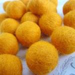 Felt Balls x 20 - Orange - 2cm