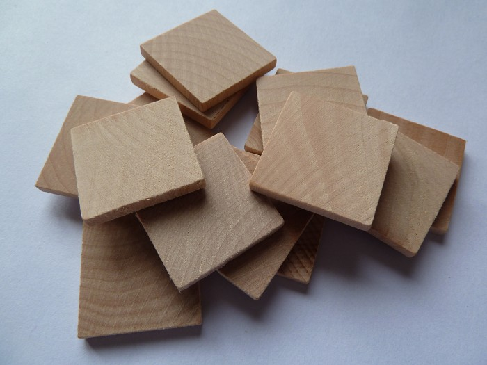 10 x 1 Inch Square wooden tiles