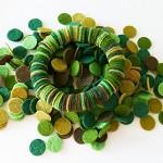 100 Pcs DIY 15mm Wool Felt Circles - GREENS