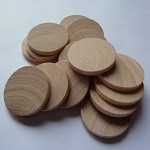 10 x 1 Inch Round wooden tiles- flat edge