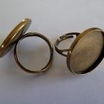 10 x Antique bronze 20mm ring blanks