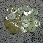 20 mixed creamy lemon lime yellow buttons, 3 styles.