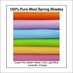 100% PURE WOOL FELT Spring Shades * 6 Squares 30cm x 25cm