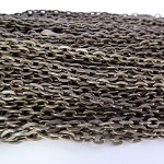 Longer length 10 x 75cm Rolo Chain Antique Bronze