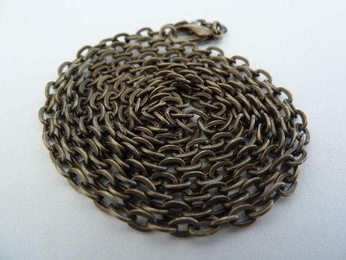 10 x 60cm Rolo Chain Antique Bronze