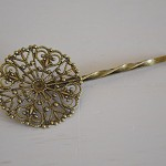 50 Filigree Hairpins Antique Bronze