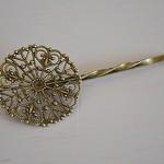 50 Filigree Hairpins Antique Bronze