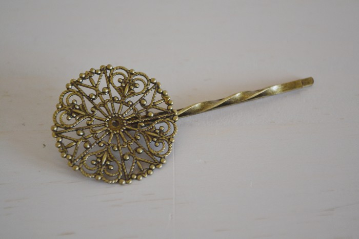 20 Filigree Hairpins Antique Bronze