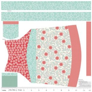Apron Panel in Rouge by Emily Taylor for Riley Blake Designs
