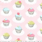 1.8 mtrs - Quaint Cupcakes in Pink from Its a Girl Thing by Michael Miller