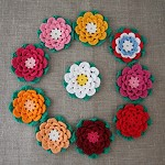 Crochet lotus flower in a colour of your choice, large embellishment