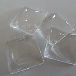 10 x Square 30mm glass dome cabochons