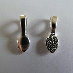 10 x Stirling silver plated teardrop bails