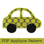 Car Applique Template, Vehicle, Transport, DIY, PDF Pattern for Children, Boys
