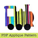 Train Applique Template, Transport, DIY, PDF Pattern for Children, Boys
